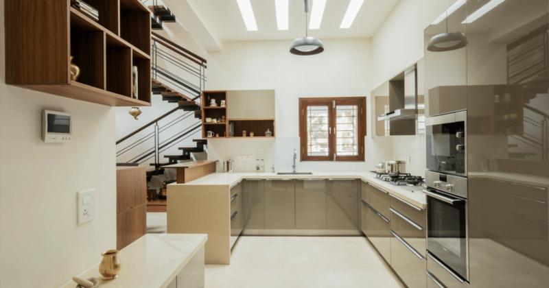 U-shape kitchen interior designs